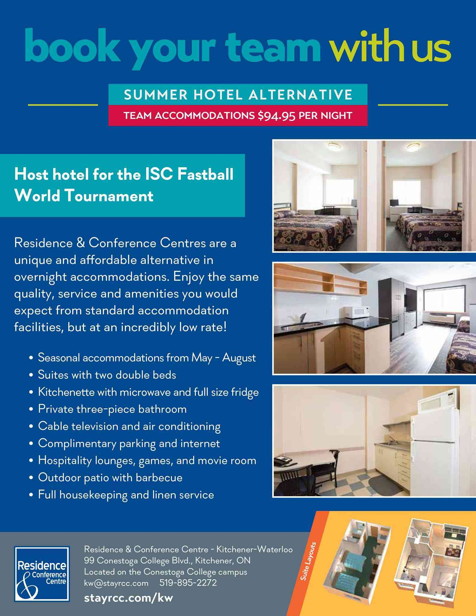 Another lodging option for this August at the ISCWT